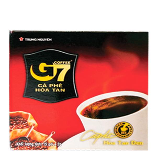 Cà Phê G7 Hòa Tan Đen Hộp 2G*15 Gói