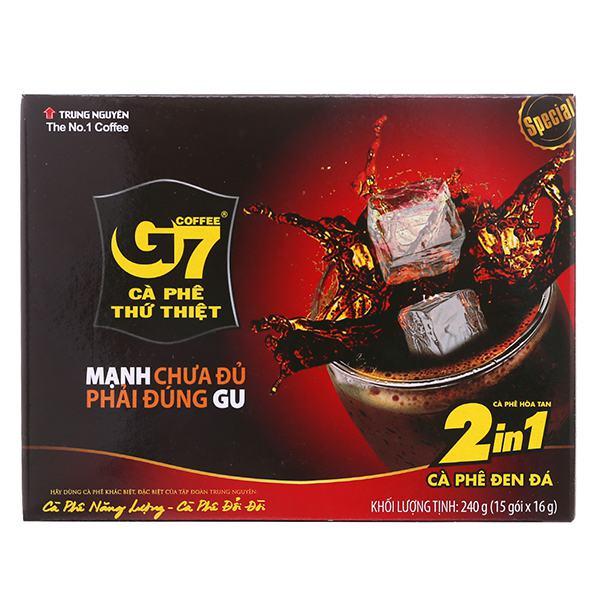 Cà Phê Đen Đá G7 2in1 Hộp 15Gói*16G
