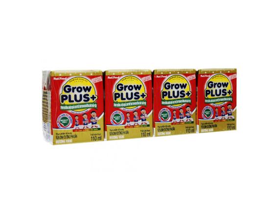 Lốc 4 Sữa Bột Pha Sẵn Growplus Suy Dinh Dưỡng Hộp Giấy 110Ml