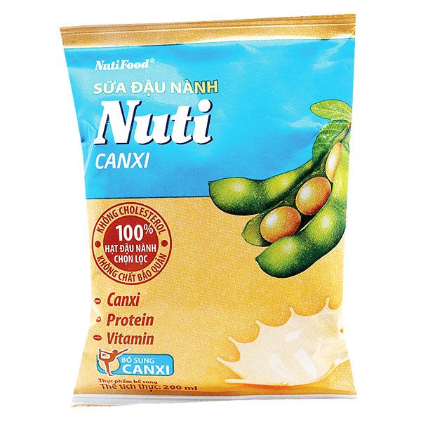 Sữa Đậu Nành Nuti Canxi Bịch 200Ml