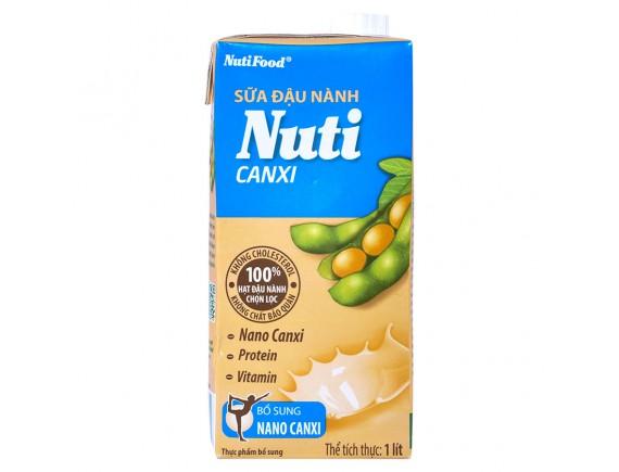 Sữa Đậu Nành Nuti Canxi Hộp Giấy 1L