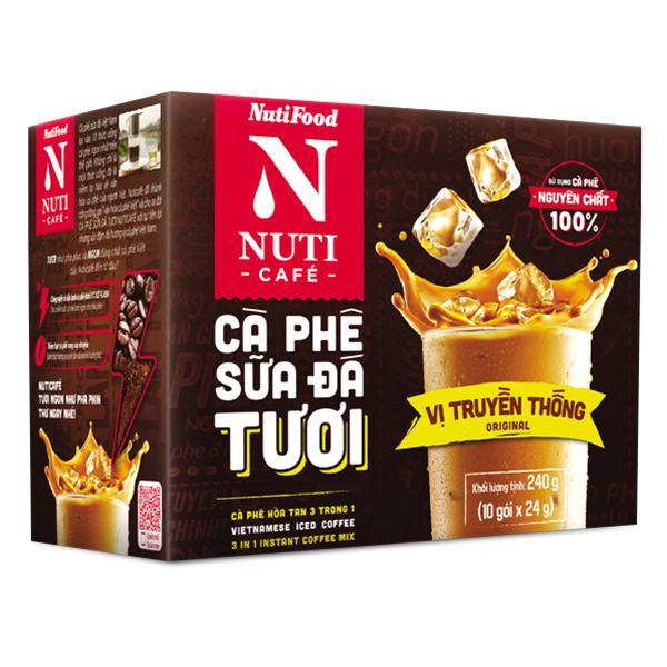 Cà Phê Nutifood Sữa Đá 3IN1 24G*10 Gói