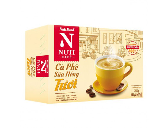 Cà Phê Nuticafe Tươi Sữa Nóng 15 Gói*17G