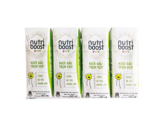 Lốc 4 Hộp Sữa Tiệt Trùng Nutriboost Kids Khởi Đầu Trọn Vẹn 180Ml