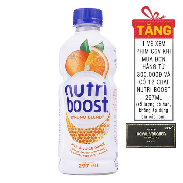Nước Trái Cây Nutri Boost Cam Sữa Chai 297Ml