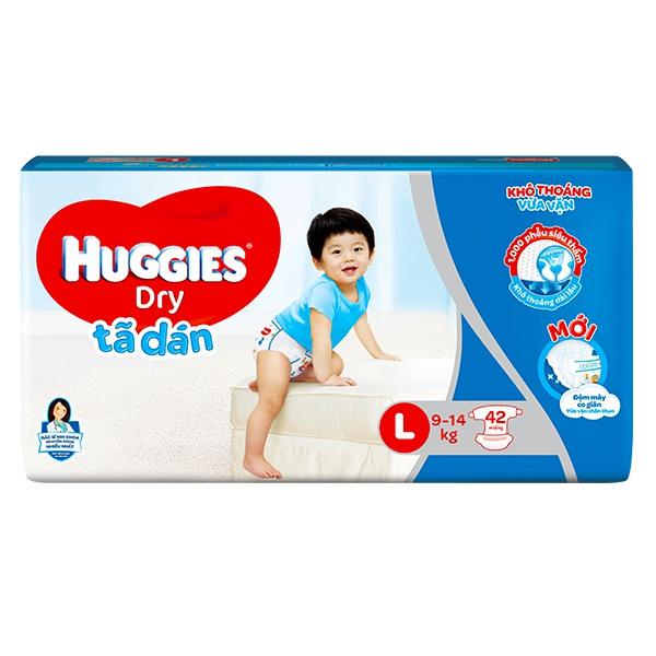 Tã Dán Huggies Dry L42