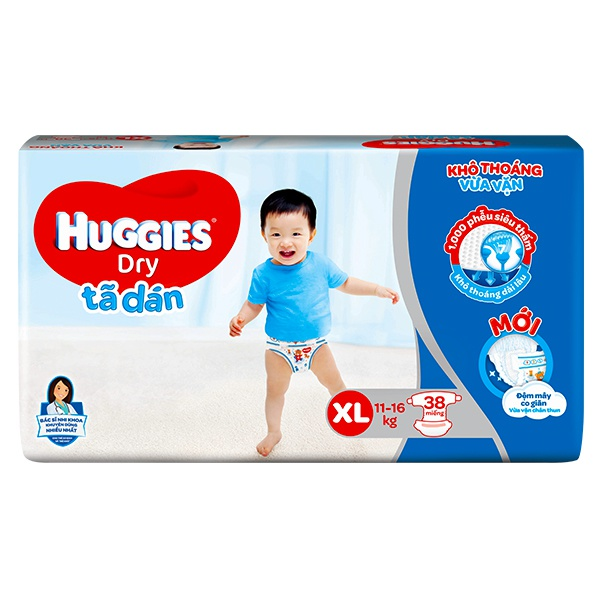 Tã Dán Huggies Dry XL38
