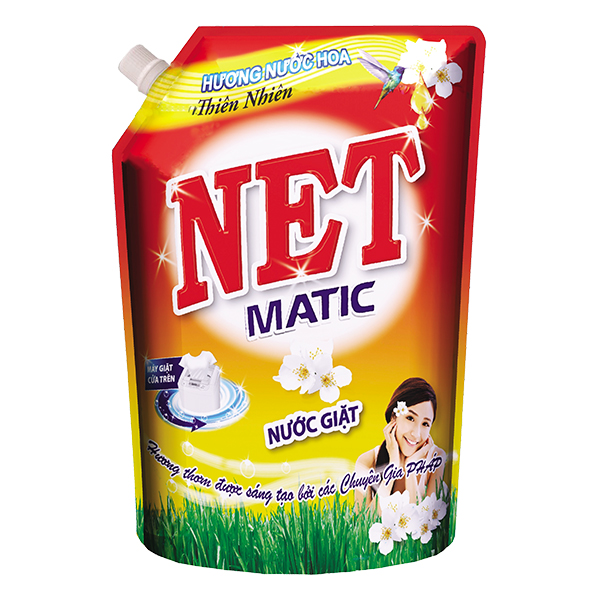 Nước Giặt Net Matic Hương Hoa Thiên Nhiên Túi 2.4Kg