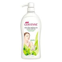 Sữa Tắm Gervenne Trắng Da Tinh Chất Sữa Dê Và Hương Hoa Lily Xanh Chai 900G