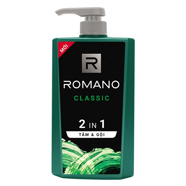 Tắm Gội 2IN1 Romano Classic 650G