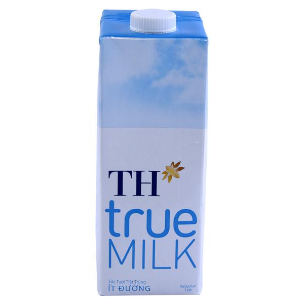 Sữa Tươi Tiệt Trùng TH True Milk Ít Đường Hộp Giấy 1L