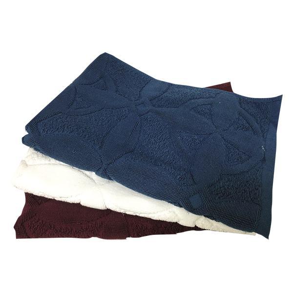 Thảm Khăn Cotton Họa Tiết Hoa 40*60Cm