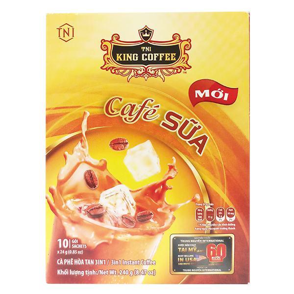 Cà Phê Sữa Hòa Tan 3in1 King Coffee 10Gói*24G