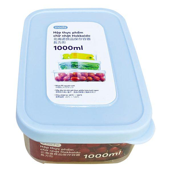 Hộp Nhựa Đựng Thực Phẩm Hokkaido Chữ Nhật 1000Ml