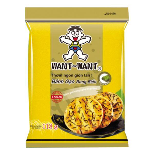Bánh Gạo Want Want Rong Biển Gói 118G