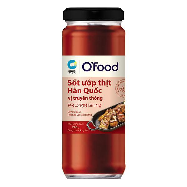 Sốt Ướp Thịt Hàn Quốc O'Food Truyền Thống Hũ 240G