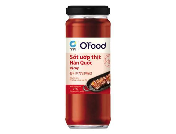 Sốt Ướp Thịt Hàn Quốc O'Food Vị Cay Hũ 240G