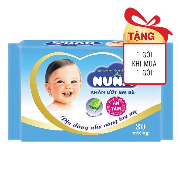 Khăn Ướt Baby Nuna Gói Du Lịch 30 Miếng