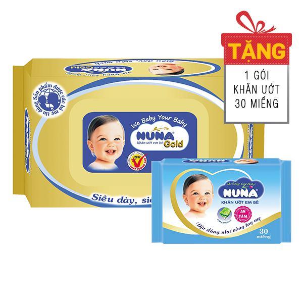 Khăn Ướt Baby Nuna Không Mùi 80 Miếng
