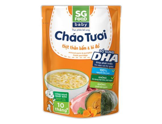 Cháo Tươi SG Food Baby Thịt Thăn Bằm & Bí Đỏ 240G