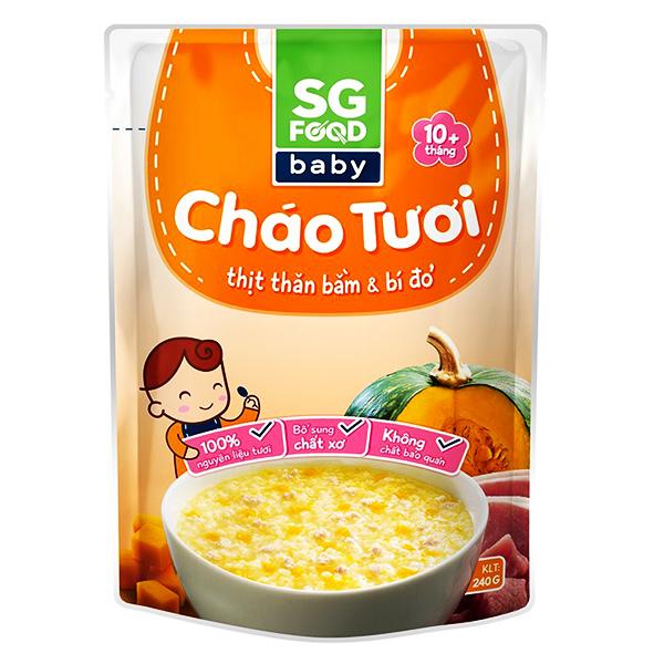 Cháo Tươi SG Baby Thịt Thăn Bằm & Bí Đỏ 240G
