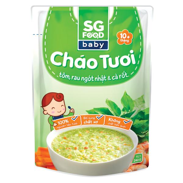 Cháo Sài Gòn Food Baby Tôm, Rau Ngót Nhật & Cà Rốt 240G