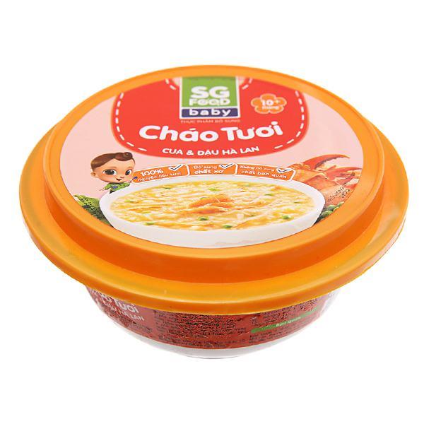 Cháo Tươi SG Food Baby Cua Và Đậu Hà Lan Hộp 240G
