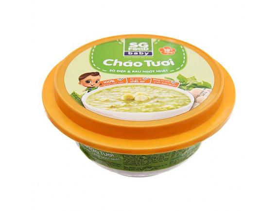 Cháo Tươi SG Food Baby Sò Điệp Và Rau Ngót Hộp 240G