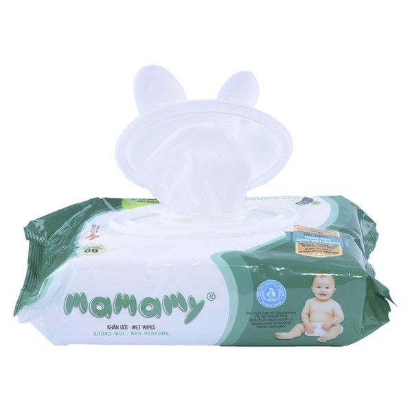 Khăn Ướt Mamamy 80 Tờ Có Nắp Không Mùi