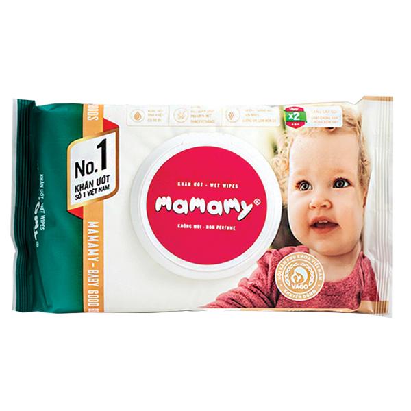 Khăn Ướt Mamamy 100 Tờ Có Nắp Không Mùi