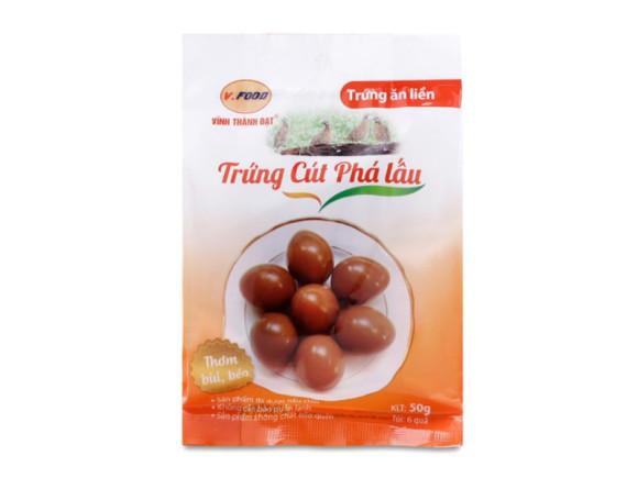 Trứng Cút Phá Lấu Ăn Liền Vfood Túi 6 Trứng 50G