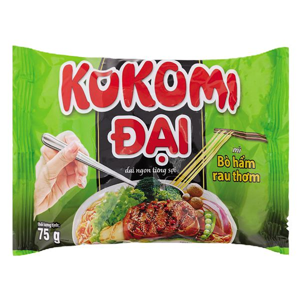Mì Kokomi Đại Bò Rau Thơm Gói 75G