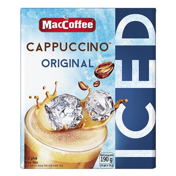 Cà Phê MacCoffee Cappuccino Truyền Thống 10 Gói*19G