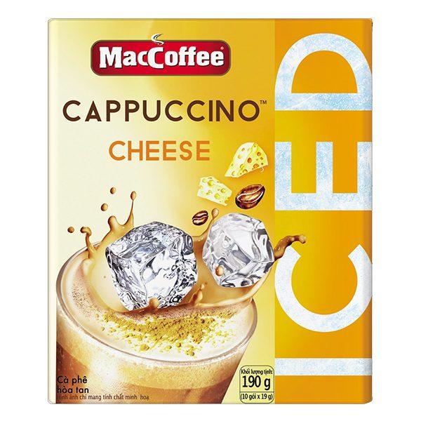 Cà Phê MacCoffee Cappuccino Phô Mai 10 Gói*19G