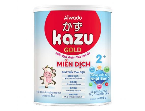 Sữa Bột Dinh Dưỡng Aiwado Kazu Miễn Dịch Gold Cho Bé Trên 2 Tuổi Hộp Thiếc 810G