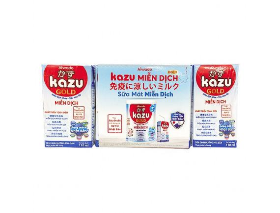 Lốc 4 Sữa Dinh Dưỡng Pha Sẵn Kazu Miễn Dịch Gold Hộp 110Ml