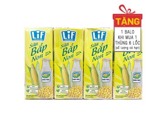 Lốc 4 Sữa Bắp Non Lif K2 180Ml