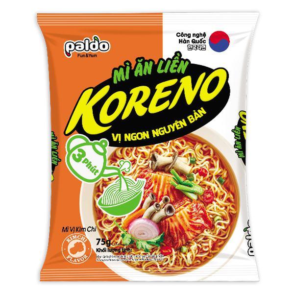 Mì Koreno 3 Phút Kimchi Gói 75G