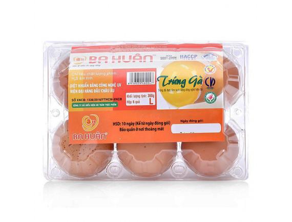 Hộp 6 Trứng Gà Ba Huân