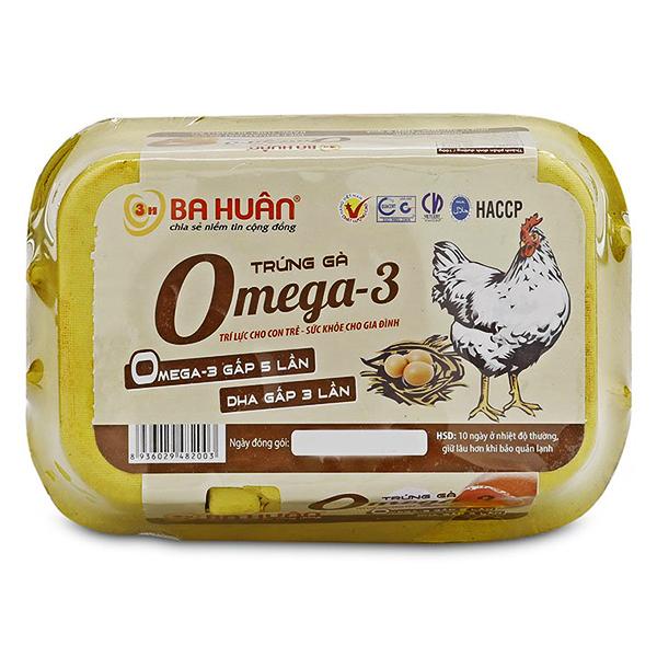 Hộp 6 Trứng Gà Ba Huân Omega-3 360G