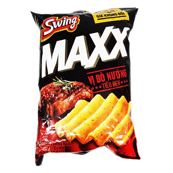Snack Swing Maxx Vị Bò Nướng Tiêu Đen 108G