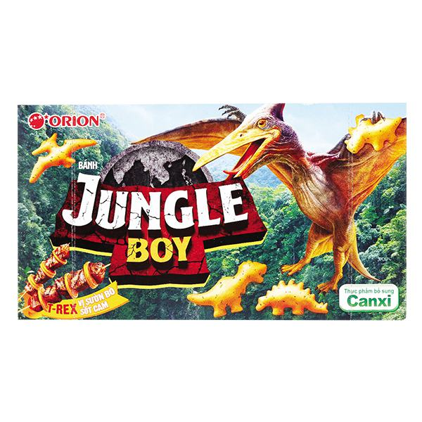 Bánh Jungle Boy T-Rex Sườn Bò Sốt Cam Hộp 35G