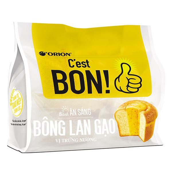 Bánh Ăn Sáng C'est Bon Bông Lan Gạo Vị Trứng Nướng 90G