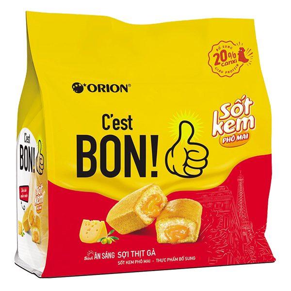Bánh Ăn Sáng C'est Bon Sốt Kem Phô Mai Sợi Thịt Gà Gói 5 Cái*20.3G