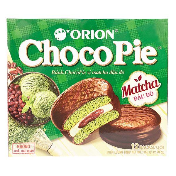 Bánh Choco Pie Vị Matcha Đậu Đỏ Hộp 12 Gói*30G