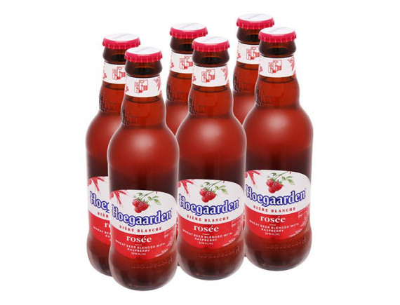 Bia Hoegaarden Rosee Lốc 6 Chai 248Ml
