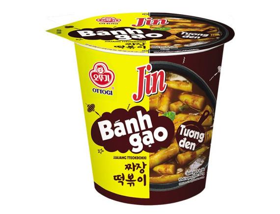 Bánh Gạo Tokpokki Ottogi Jin Vị Tương Đen Ly 82G