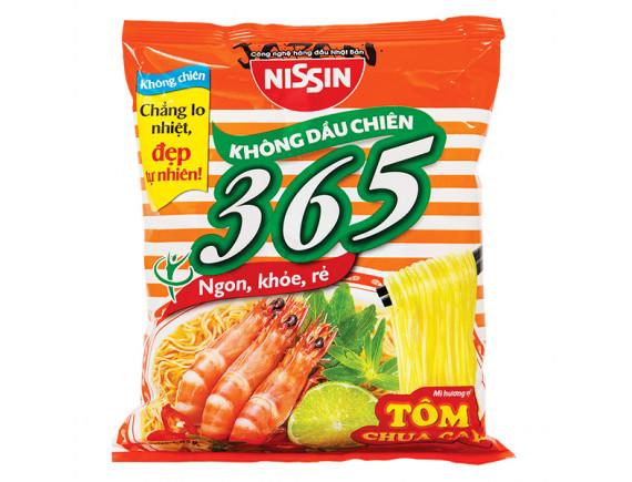 Mì Nissin 365 Tôm Chua Cay Gói 65G