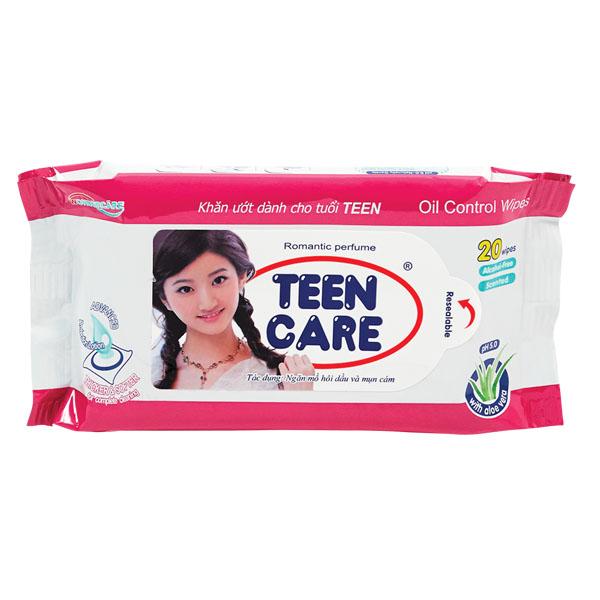 Khăn Ướt Teen Care Hồng 20 Miếng - Hương Dịu Nhẹ