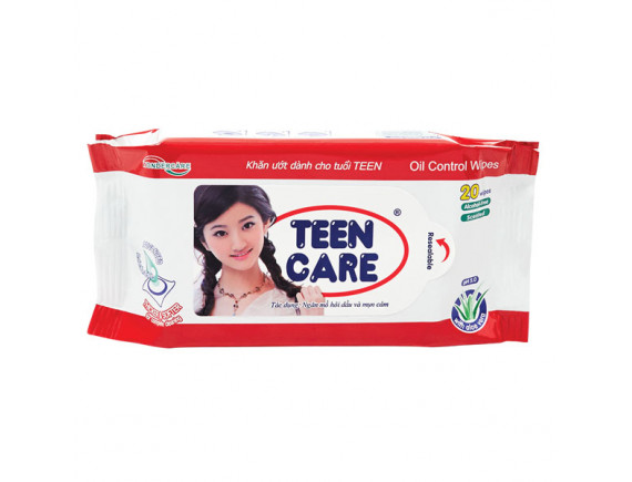 Khăn Ướt Teen Care Đỏ 20 Miếng - Hương Dịu Nhẹ